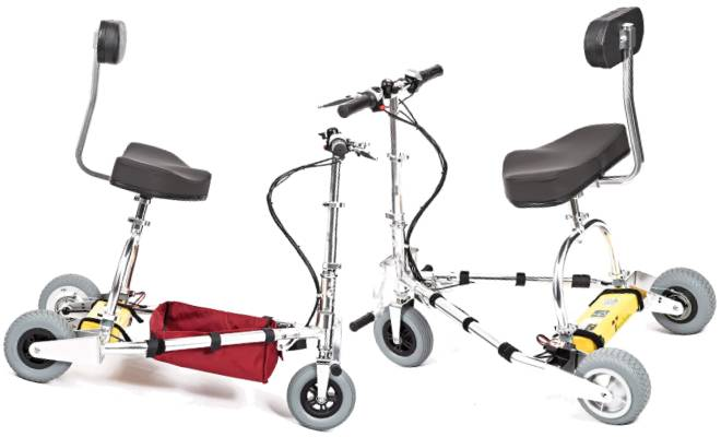 TravelScoot Folding Electric Mobility Scooter