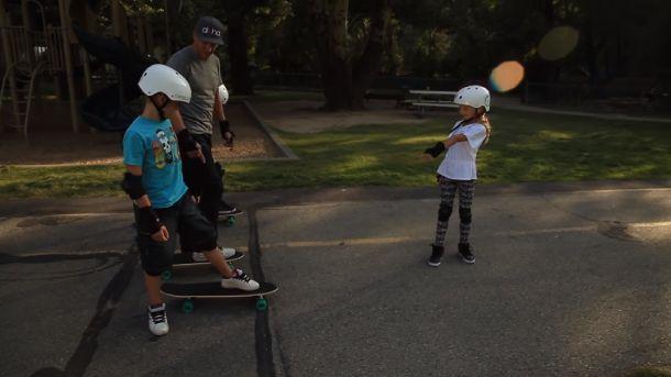 child start skateboarding