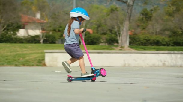 using a three-wheel scooters