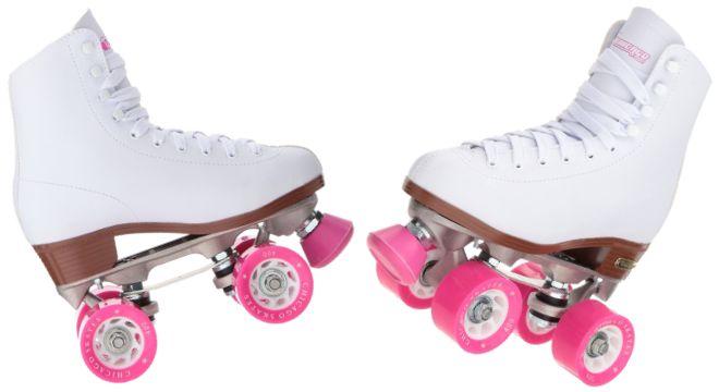 Premium White Quad Rink Skates