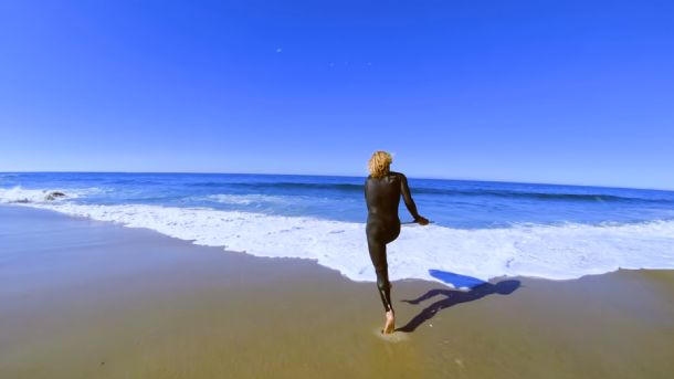 Running Toward The Water