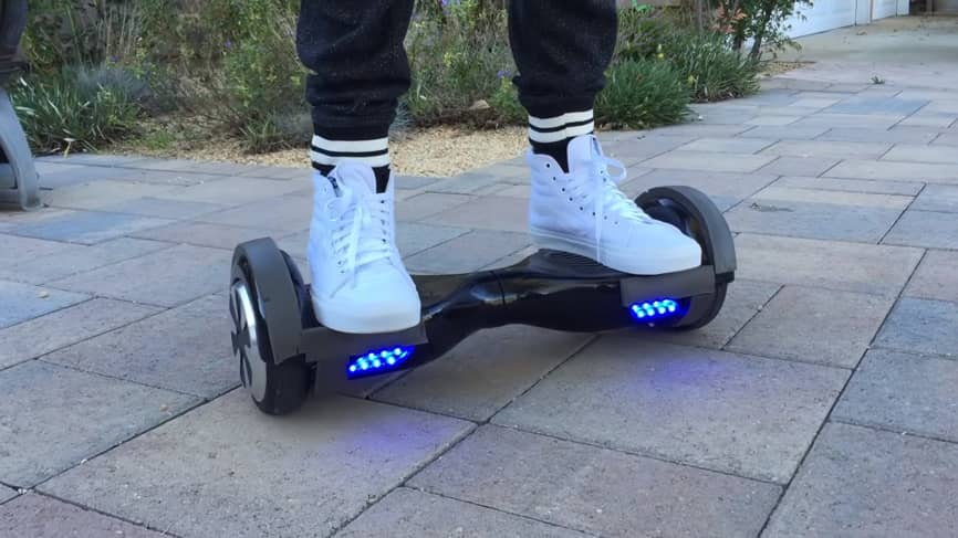 how to ride a hoverboard step